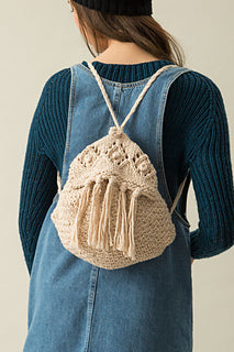 Knitting Kit - Tasselled Rucksack