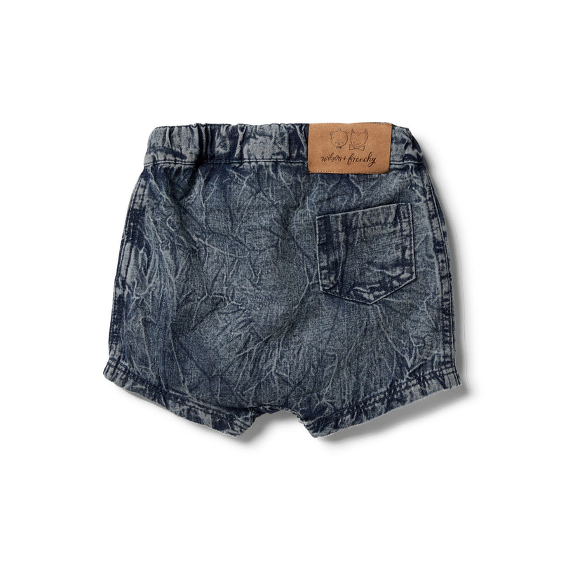 Slouch Shorts in Denim by Wilson & Frenchy | Stitch Piece Loop | Online + In Store | Noosa Heads | Shop a unique blend of Australian boutique fashion, gift & homewares, baby & children's clothing, & designer hand knitting yarn & craft fabric | Free Shipping on orders $50 & over