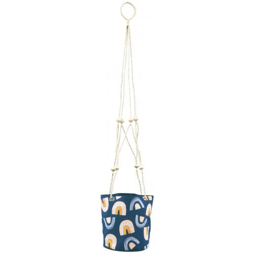 Rainbow Hanging Planter - Blue