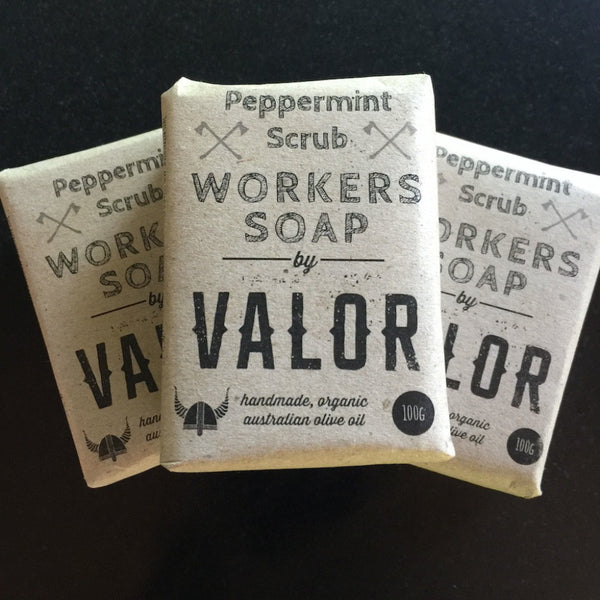Valor Peppermint Scrub Workers Soap Bar