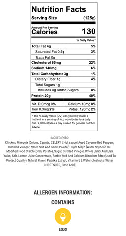 buffalo chicken salad nutritional info and ingredients