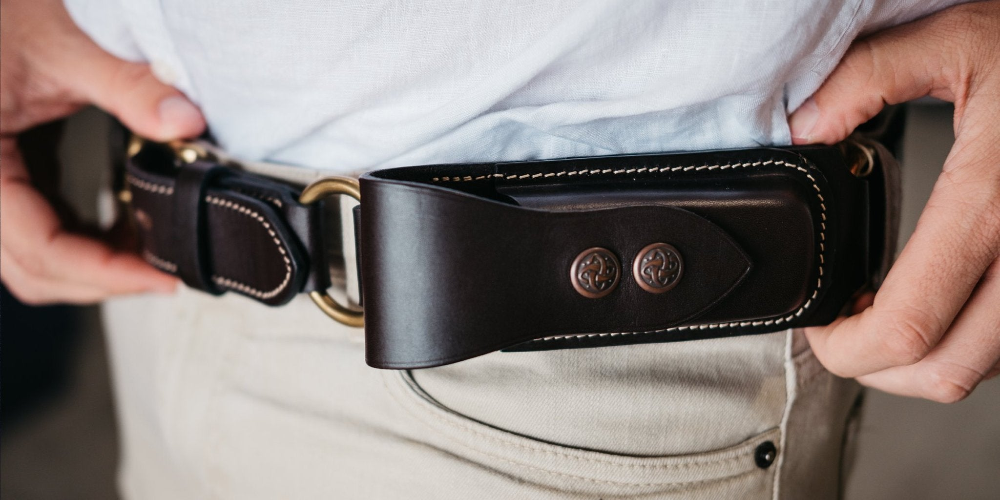 Australian Made Hobble Belt with Leatherman Pouch