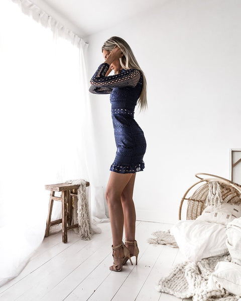 Riverdale Lace Dress (Navy)