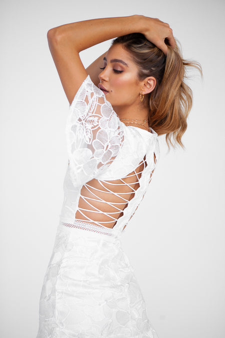 Beyond Bliss Dress (White)