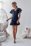 Alexia Lace Dress (Navy)