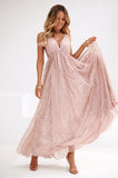 All That Glitters Maxi Dress (Rose Gold)
