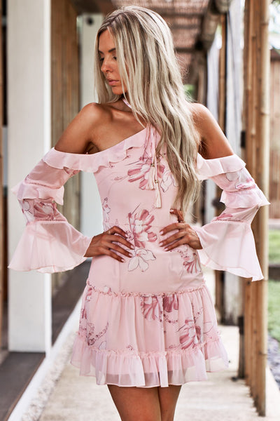 Avery Dress (Pink Floral)