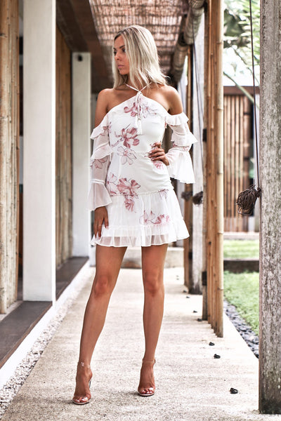 Avery Dress (White Floral)