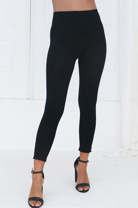 Kayla Ripped Jeggings (Black)