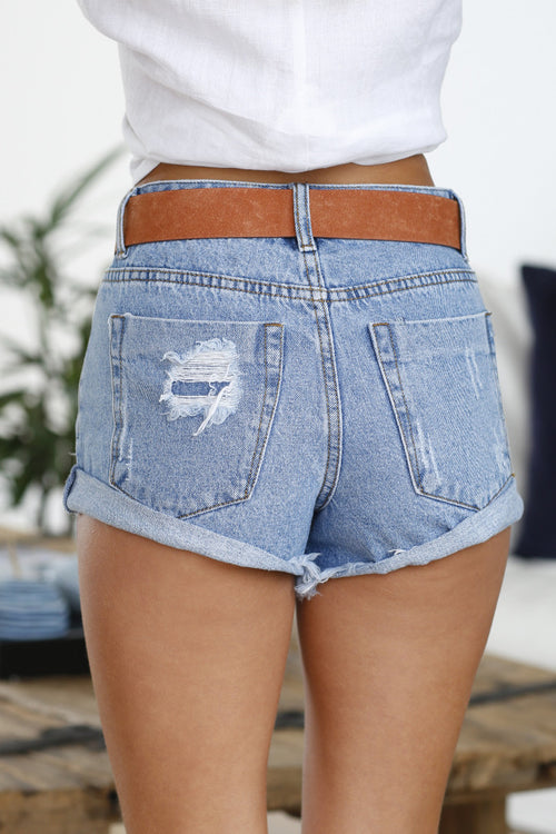 Behati Denim Shorts (Blue)