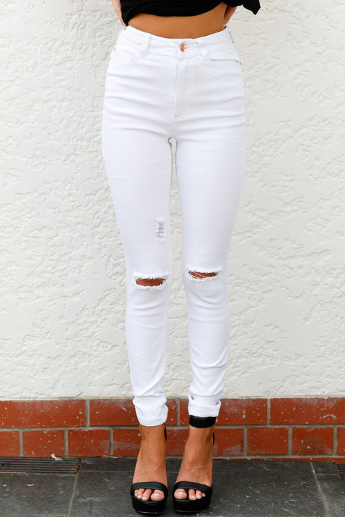 Bliss Jeans (White)