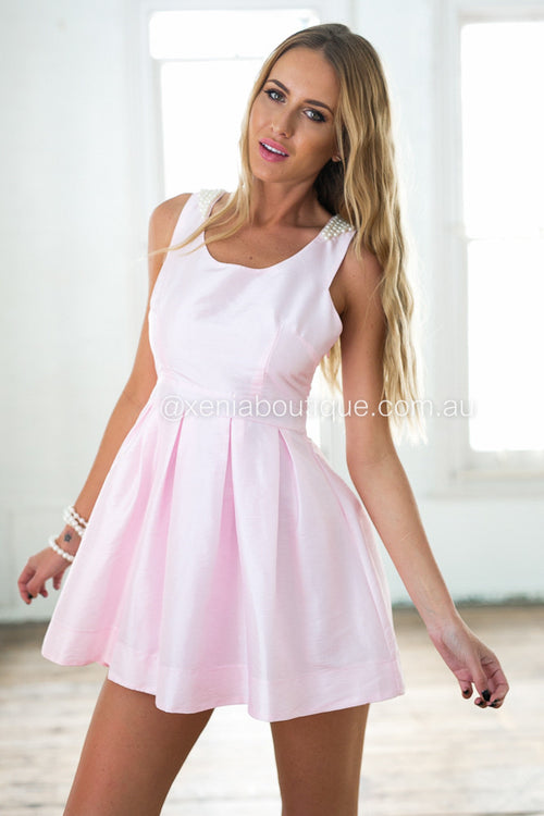 Breakfast At Tiffanys Dress (Baby Pink) - SAMPLE SALE
