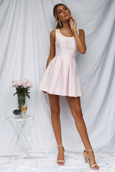 Breakfast At Tiffanys Dress (Baby Pink)