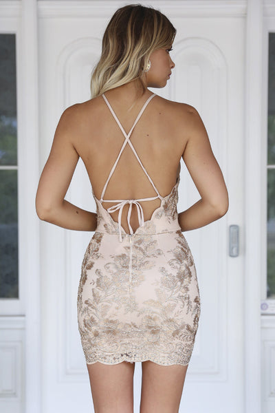 Breathtaking Dress (Gold)