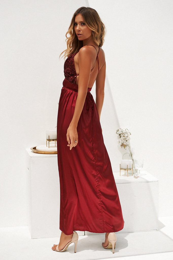 Candice Maxi Dress, Burgundy, Wine, Sequin Dresses, Satin Dresses, Maxi Dresses, Victoria's Secret, Formal Dresses, Ball Dresses, Event Dresses, Best Maxi Dresses, Affordable formal Dresses, Backless Maxi, Celeb Style, Women's Fashion, Blush, Pink, Kylie Jenner, Kim Kardashian, Kendall Jenner, Bella Hadid