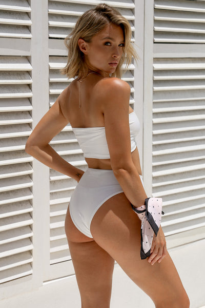 Cruise Bikinis, White, Back