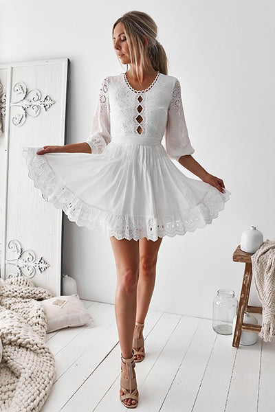 Delilah Dress (White)