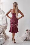 Ella Dress (Wine/Nude)