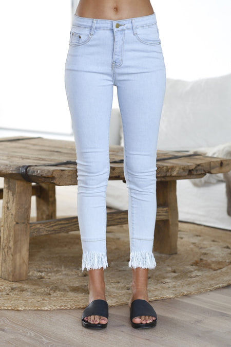 Harlow Skinny Jeggings (White)