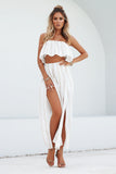 **Giorgia Set (Beige/White Stripe)