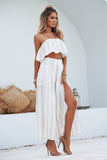 Giorgia Set (Beige/White Stripe)