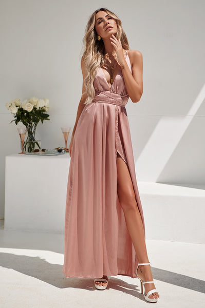 Girl On Fire Maxi Dress (Blush)