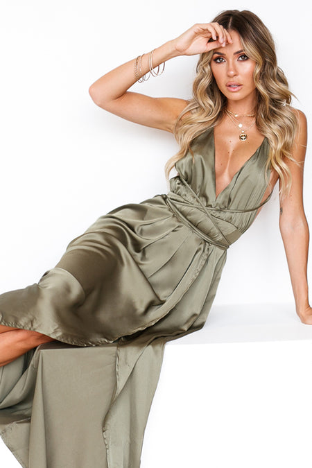 Love Triangle Maxi Dress (Green)