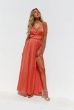 Girl On Fire Maxi Dress (Coral)