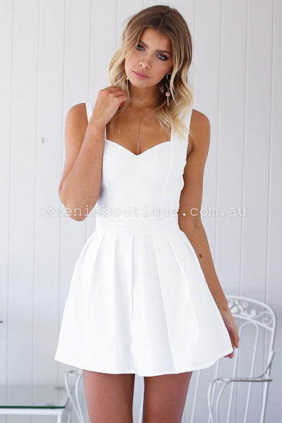 Heart Cut Out Dress (White)