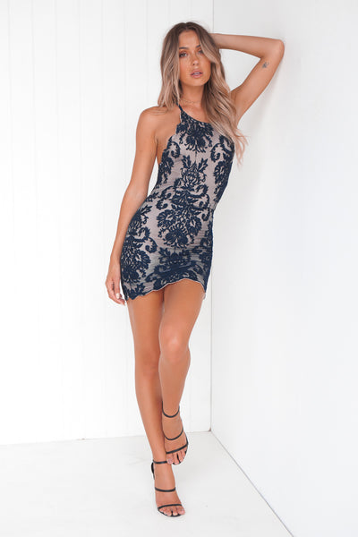 Inka Lace Dress (Navy)