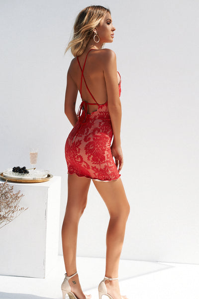 Inka Lace Dress, Red, Back, Bodycon Dress, Party Dresses, Homecoming Dresses, Sexy Dresses, Women's Fashion, Hottest Outfits, Semi Formal Dresses, Cocktail Dresses, Tight Dresses, Red Dress, Cute, Fashion, Style, Kardashian, Jenner, Trends, Backless Dresses