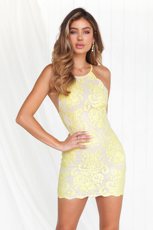 Inka Lace Dress (Yellow)