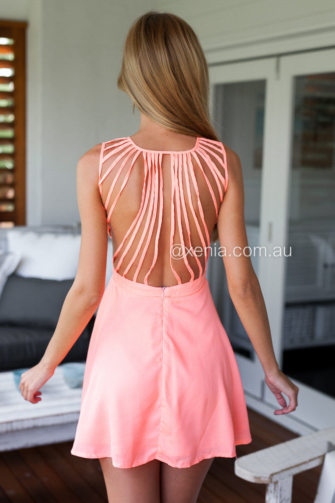 In The Moment Dress-Back,Peach