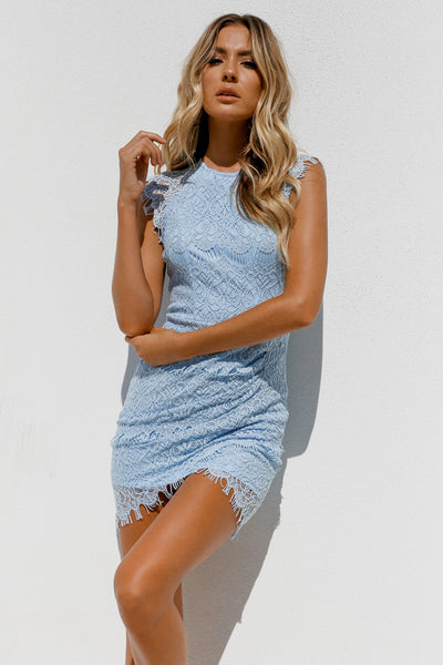 Jessica Dress, Baby Blue, Front3