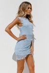 Jessica Dress, Baby Blue, Side