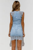 Jessica Dress, Baby Blue, Back