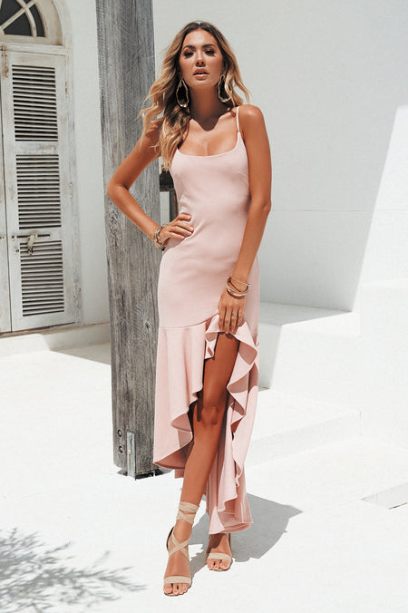The Perfect Date 2.0 Multiway Maxi Dress (Pink)