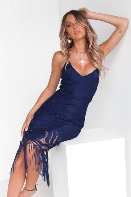 Higher Love Bodycon Dress (Navy)