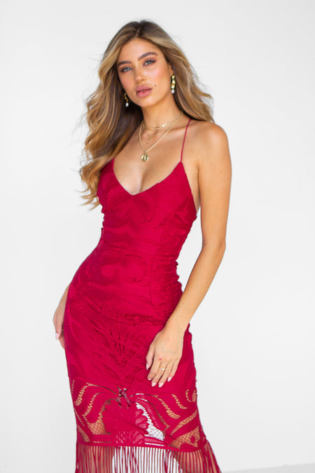 The Perfect Date Satin Dress (Rose)