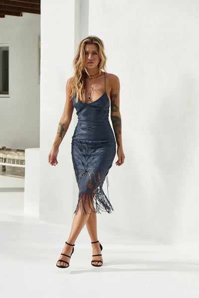 Khaleesi Dress (Steel Blue)