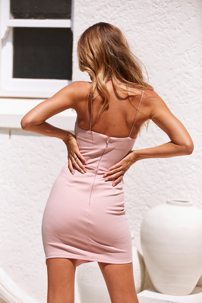 Kourtney Mini Dress (Baby Pink)