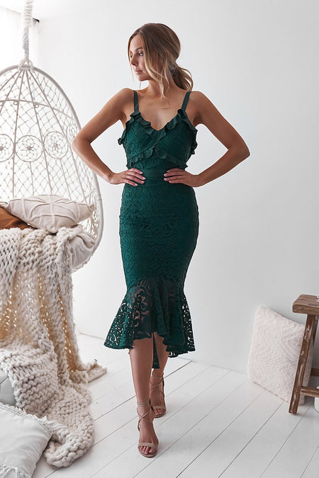 Mika Dress (Emerald Green)