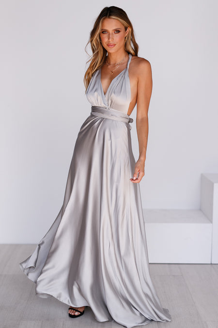 Girl On Fire Maxi Dress (White)