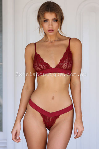 Loucette Lace Set (Wine)