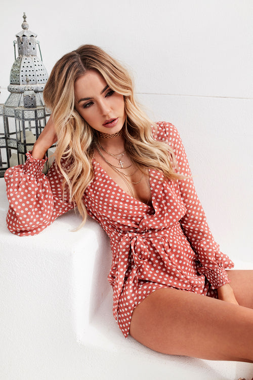 Love and Cherish Playsuit (Faded Red)