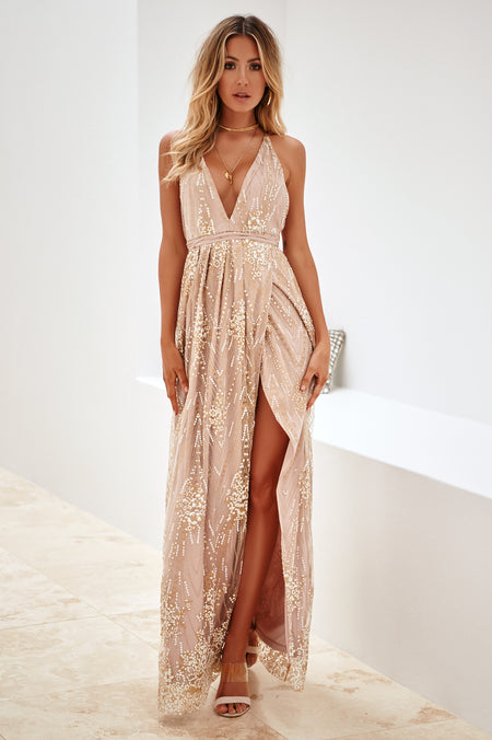 The Perfect Date Multiway Maxi Dress (Mocha)