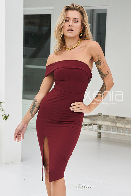 Satin Seduction Dress (Champagne)