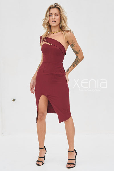In My Love Dress (Burgundy)