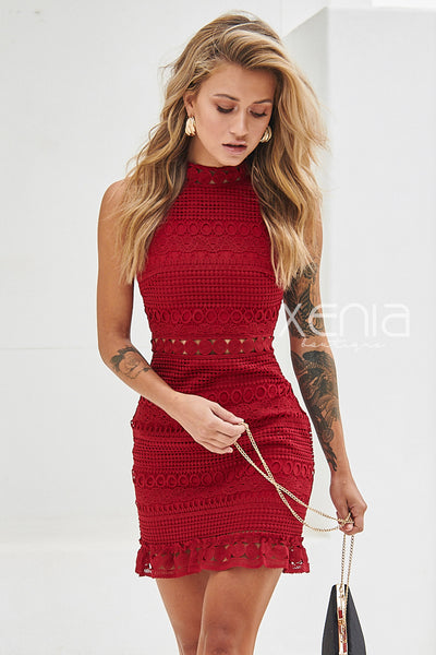 Rivers Dress (Wine)