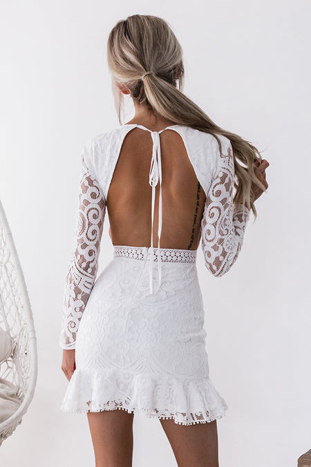 Shay Lace Dress (White)